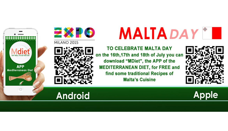 Dal Cluster Bio Mediterraneo in dono MDiet al mondo della Rete per festeggiare il MaltaDay
